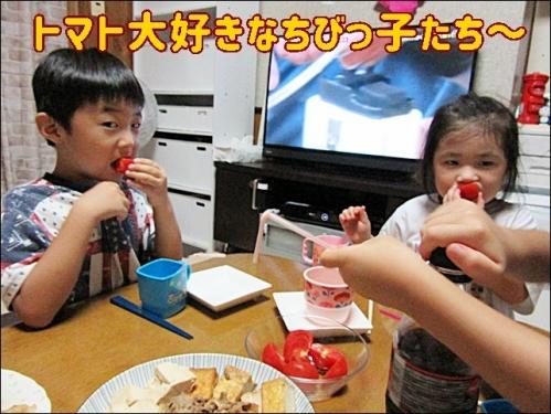 トマト大好きちびっ子たち