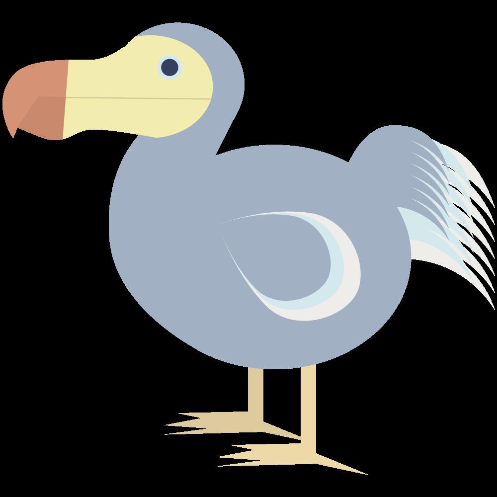 かわいいおしゃれな飛べない鳥モーリシャスの国鳥ドードーのアイコン