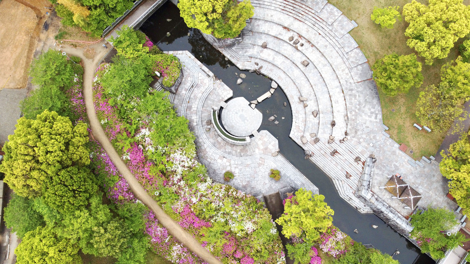 仏生山公園空撮