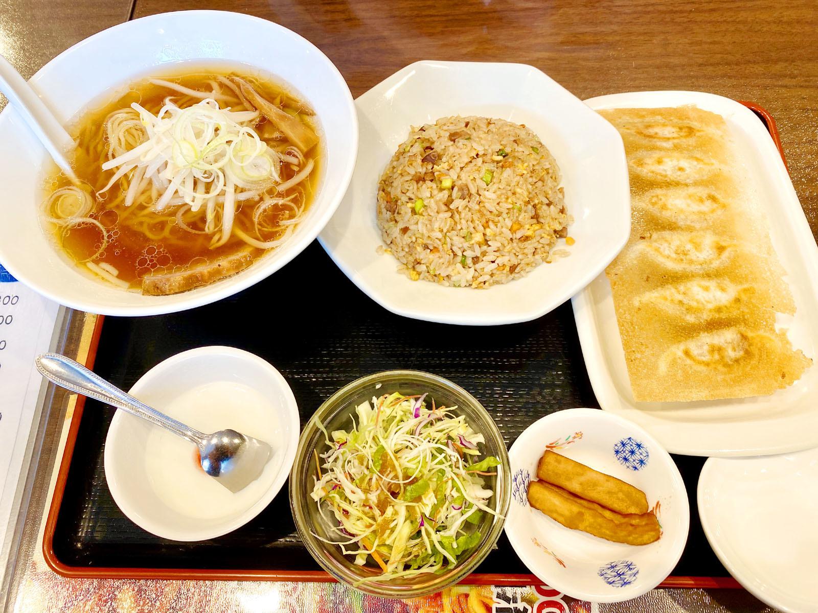 ラーメン・炒飯・焼き餃子 1050円