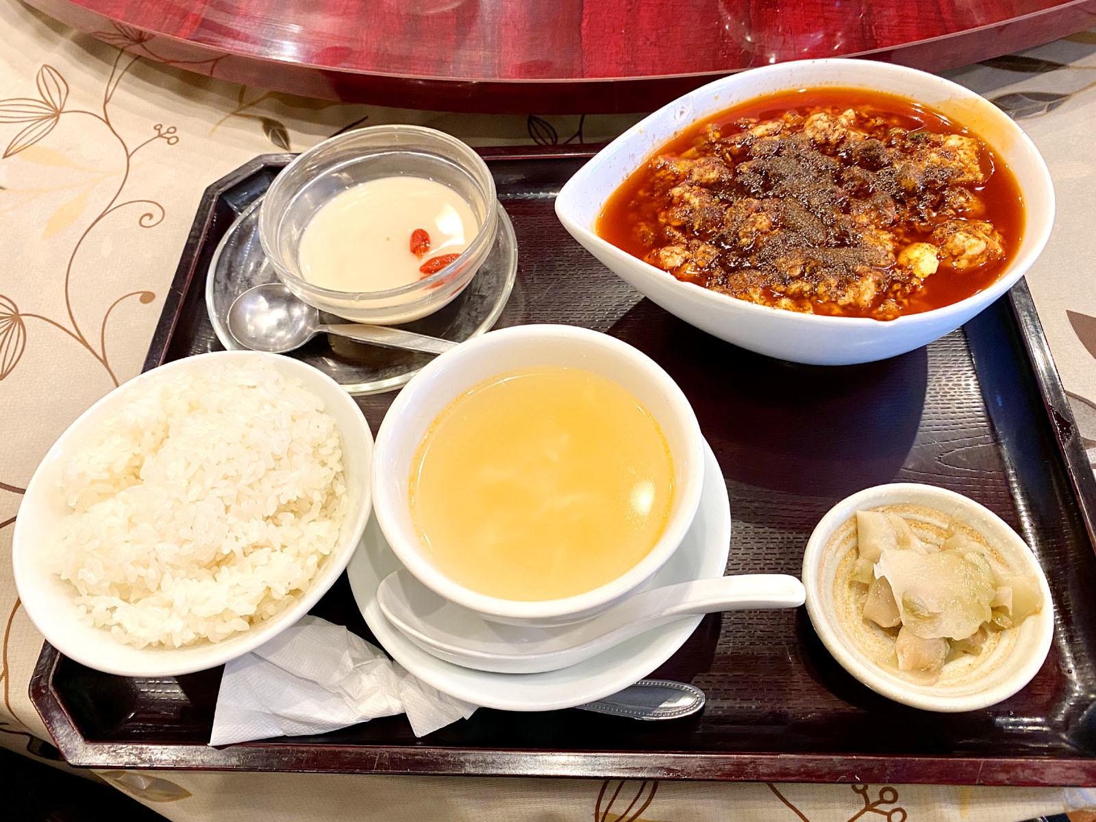 陳麻婆豆腐定食 850円