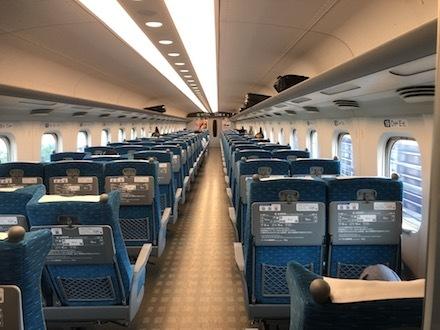 新幹線車内スナップ