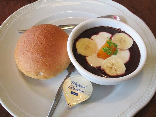 低糖質パン&アサイーヨーグ
