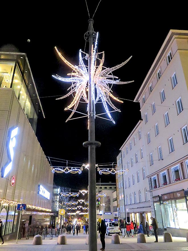 フィンランド Turku トゥルク Jouluvalo クリスマスライト