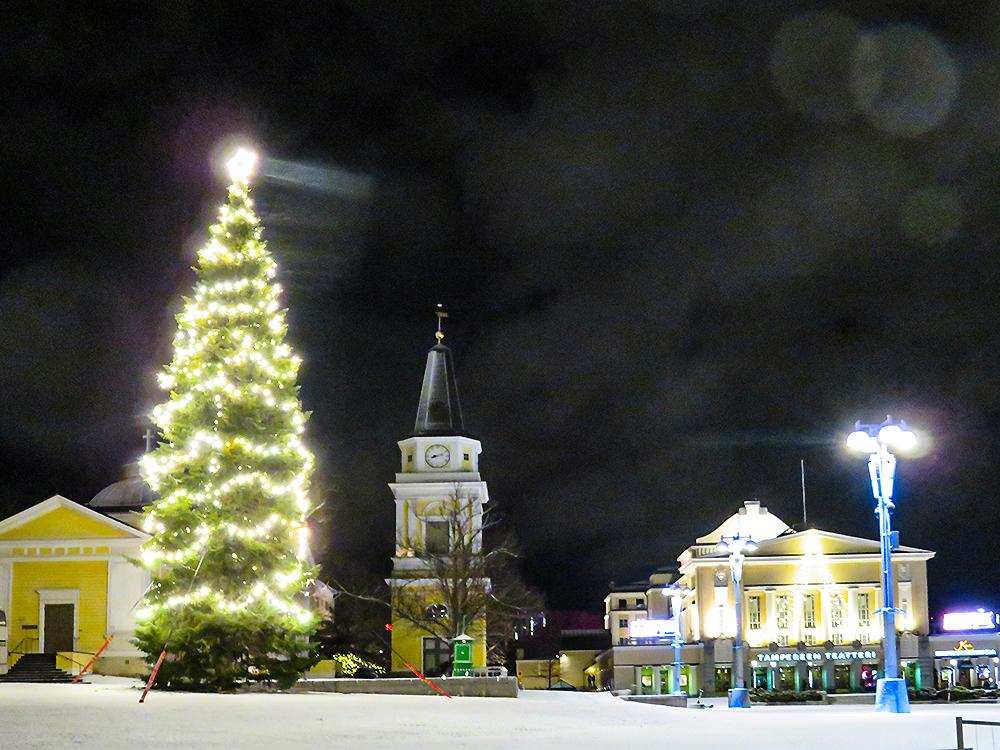 フィンランド タンペレ クリスマスライト Finland Tampere Christmas light Jouluvalo