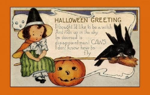 09e 700 Halloween vintage card
