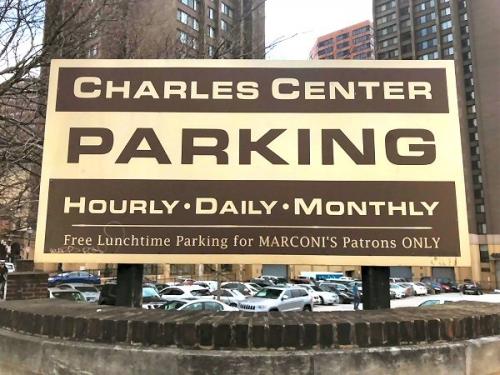 03ca 600 Parking Sign