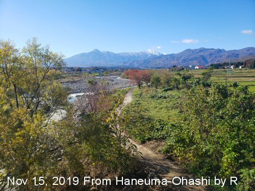 01aa 500 20191115 Mt Myoko from 跳ね馬大橋by R