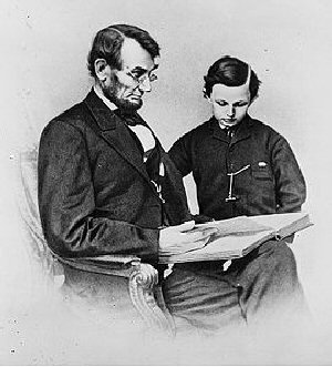 004e 300 1864 Lincoln and Tad