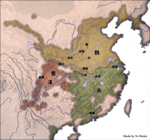 02c 600 三国志の3国map