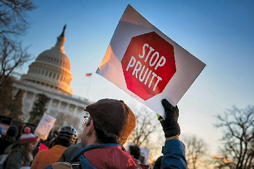 03b 500 Stop_Pruitt_Rally_To_Oppose_EPA_Nominee_Scott_Pruitt