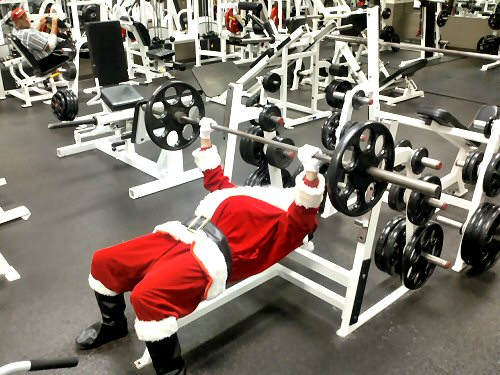 03d 500 santa weightlifting