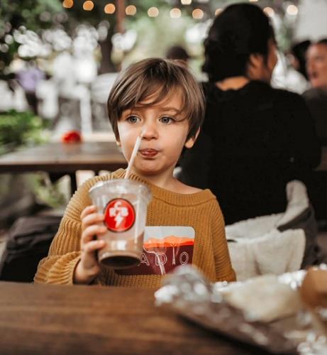 04f 500 Child drinking a Chocolate Beverage
