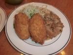 食:キッチンジロー:帆立ミルクコロッケとスタミナ焼