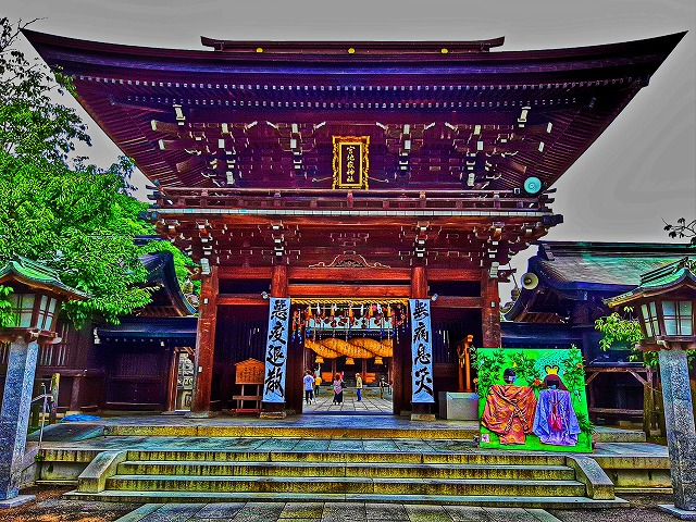 海へ続く参道 宮地嶽神社