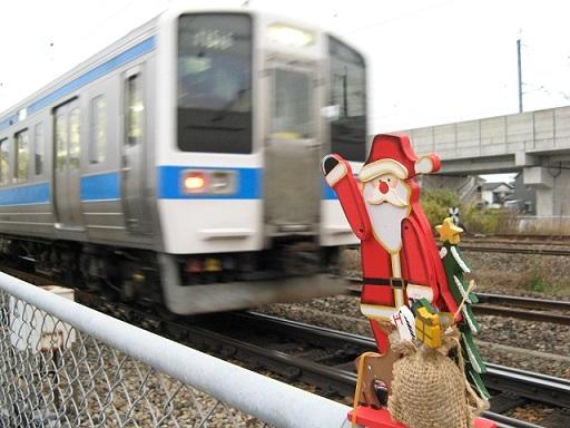 サンタ人形とJR九州