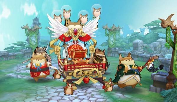 基本プレイ無料のクロスジョブファンタジーRPG、アッシュテイル、天空の城に新たな戦場「神輿凱旋戦」が登場したよ