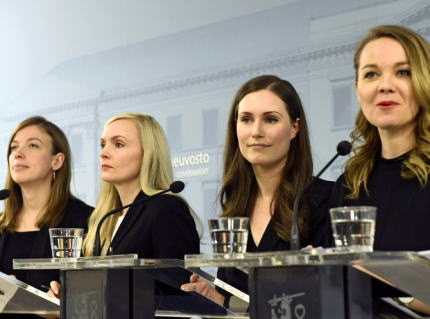 共同通信 「フィンランドでは30代女性首相を中心に女性閣僚が12人、一方日本は新菅内閣の内女性は2人だけ。この違いは何だ? 『日本は何周遅れなの?』との声も」