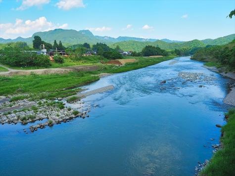 久慈川と男体山
