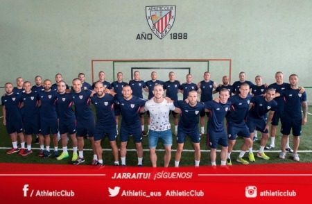 Bilbao team shaved their heads in support of Yeray