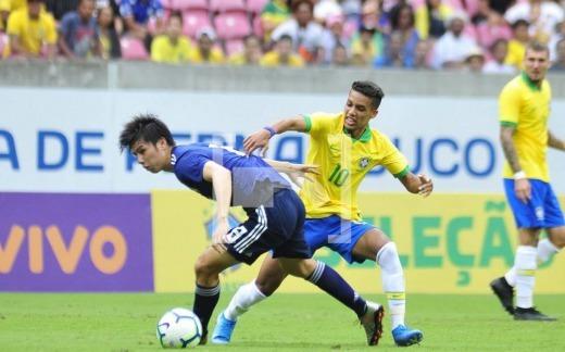 Brasil sub-23 Japão sub-23 tanaka ao goals