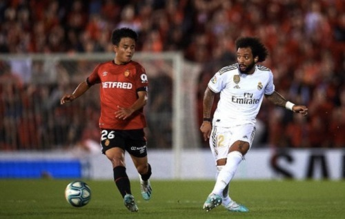 Kubo in action as his side Mallorca defeated his parent team real madrid