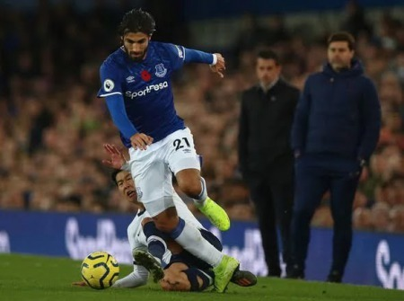 Son red card for challenge on Andre Gomes