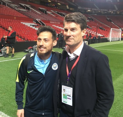 David Silva asked for a picture with his childhood hero Michael Laudrup
