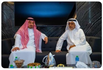 The President of the Saudi Football Federation meets with the President of the Asian Federation