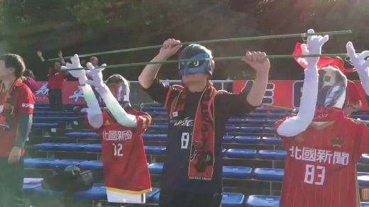 Japanese team Zweigen Kanazawa increase their attendance at away matches using doll fans