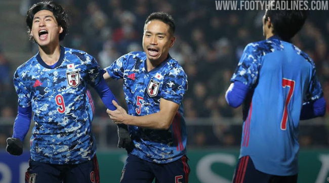 Adidas Japan 2020 Home Jersey On-Pitch Debut Against Kyrgyzstan