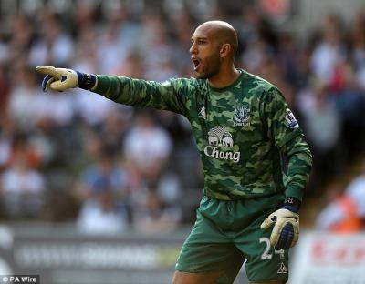 New Everton Home Goalkeeper Kit 11-12