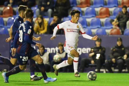 Takefusa Kubo played 90min Mallorca 2-1 Levante