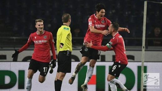 Hannover 1-2 Darmstadt Genki Haraguchi goal