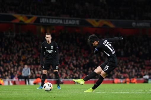 Arsenal 1-[2] Frankfurt Daichi Kamada goals