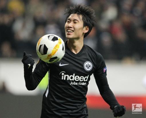 Frankfurt [2]-1 Vitoria Guimaraes Daichi Kamada goal