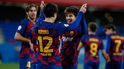 Hiroki Abe scored 2 goals in Barca B 3-1 win against La Núcia