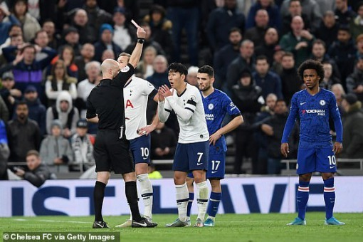 Heung-min Son red card vs Chelsea