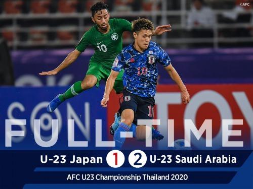 Japan U23 1_2 Saudi Arabia U23 2020 afc