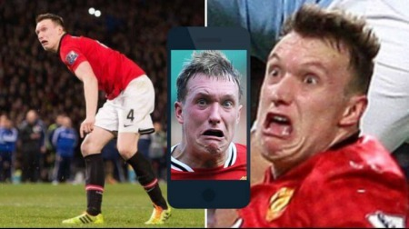 Fans mock Phil Jones face