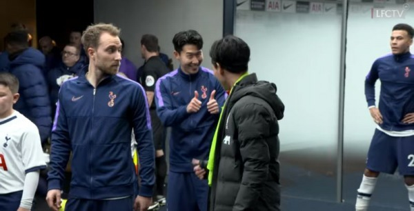 Takumi Minamino Son Heung-min share wholesome moment before kick-off
