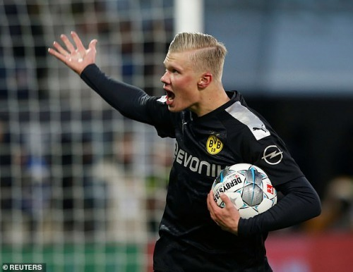 Haaland scored a stunning debut hat-trick off the bench against FC Augsburg