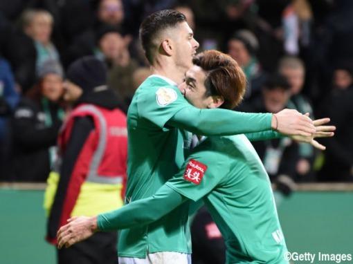 Osako assists Werder Bremen 3-2 Borussia Dortmund DFB-Pokal