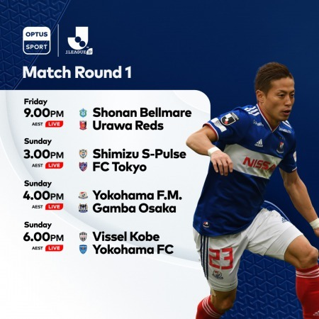 JLeague on OptusSport Four games in English commentary every week