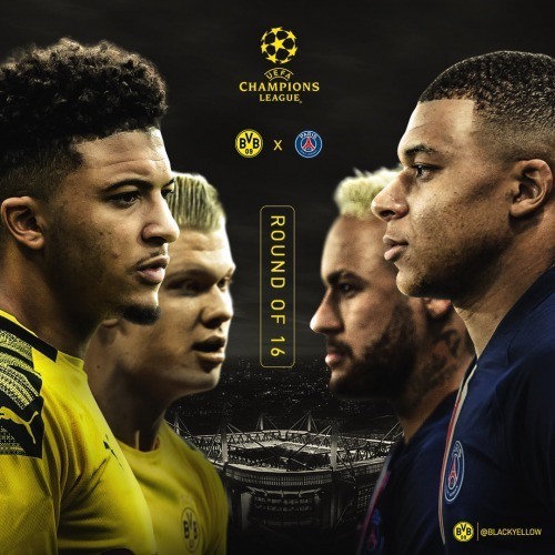 Dortmund vs Paris Saint-Germain UEFA Champions League Round of 16