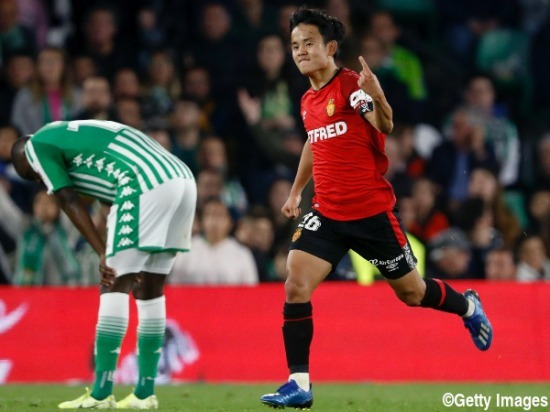 Betis 3-[3] Mallorca Takefusa Kubo goal