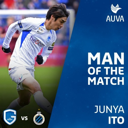 Genk 1-2 Club Brugge Junya Ito goal man of the match