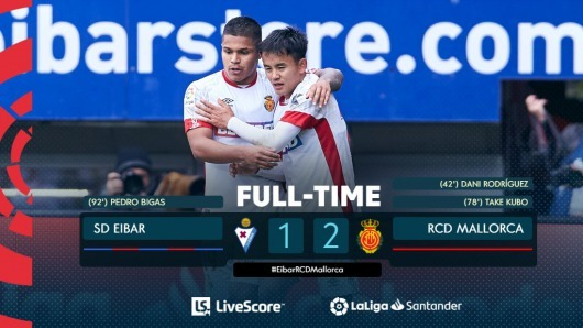 Eibar 0-2 Mallorca Takefusa Kubo goal