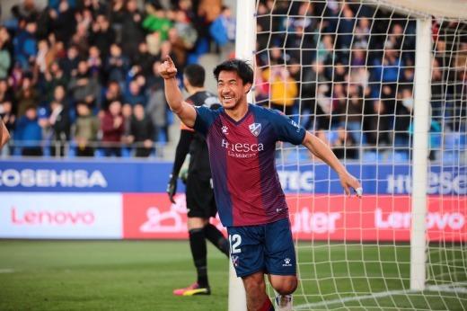 Okazaki goal Huesca 2-0 Fuenlabrada