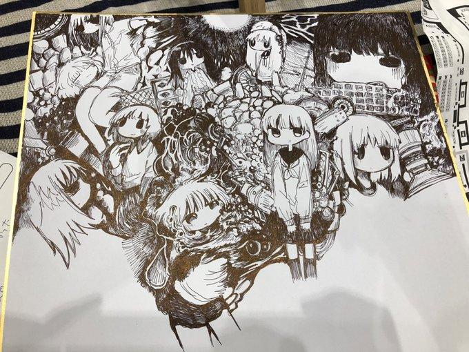 コミティア130描きかけの色紙